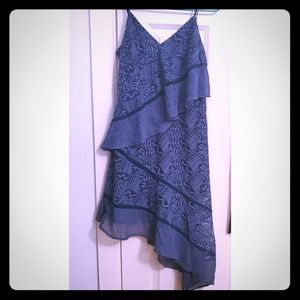 Red Carter embroidered blue dress size small.